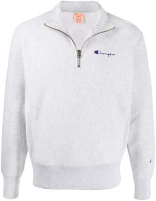 Champion long sleeve half zip sweatshirt