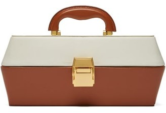 STAUD Lincoln Leather Box Bag - Womens - Camel