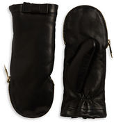 Kate Spade Faux Fur-Lined Leather Mittens