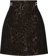 Sandro Jaisy leopard-print cotton-blend mini skirt