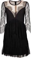 Three floor Lace Detail Dress