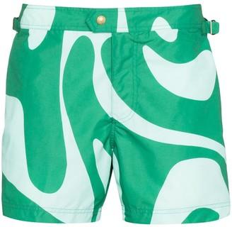 Tom Ford Swirl Print Swim Shorts