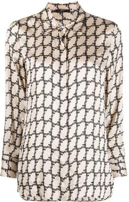 Seventy Geometric Print Satin Shirt