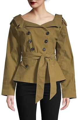 Marissa Webb Double-Breasted Trench Coat