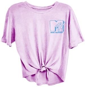Freeze 24-7 Juniors' Mtv Tie-Front T-Shirt