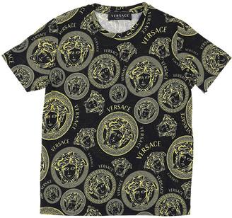Versace Boy's Medusa Medallion Short-Sleeve Shirt, Size 4-6