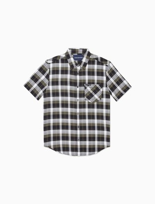 Calvin Klein Plaid Omega Pocket Short Sleeve Shirt