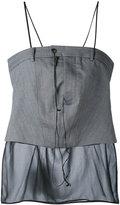 A.F.Vandevorst mesh hem top - women - Cotton/Silk - 36