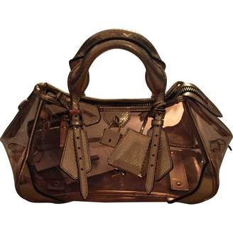 Burberry Gold Patent leather Handbags