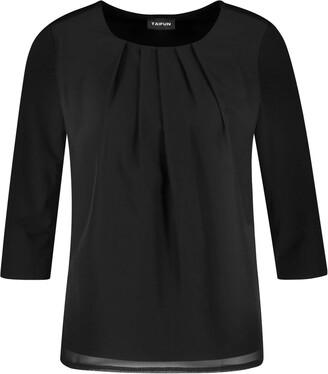 Taifun Women's 471060-19676 Long Sleeve Top