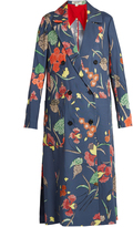 Diane von Furstenberg Ampère-print double-breasted silk coat