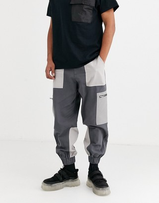 The Ragged Priest 3 tone combat pants in grey