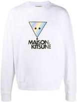 MAISON KITSUNÉ Rainbow Triangle Fox cotton sweatshirt