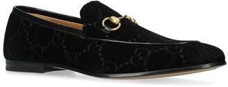 Gucci Velvet Jordan Loafers