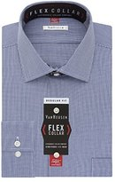 Van Heusen Men's Flex Collar Regular Fit Mini Houndstooth Spread Collar Dress Shirt