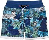 Little Marc Jacobs Blue Jersey Jungle Print Shorts
