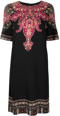 Etro Paisley Print Shift Midi Dress