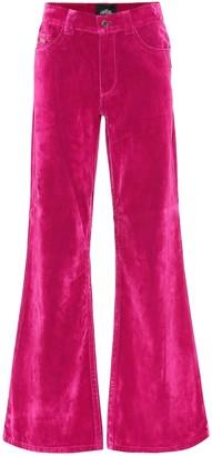 Marc Jacobs High-rise flared velveteen jeans