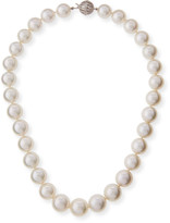 """BELPEARL South Sea Pearl Necklace with Diamond Ball Clasp, 18"""""""