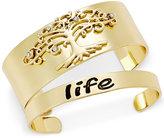 Macy's Inspired Life 2-Pc. Set Tree of Life Cuff Bracelets