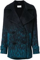 Maison Margiela degradé double breasted coat - women - Polyamide/Alpaca/Virgin Wool - 40