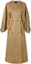 Simone Rocha cape sleeve trench coat - women - Acetate/Polyamide/Cotton - 14
