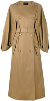 Simone Rocha cape sleeve trench coat - women - Cotton/Polyamide/Acetate - 14