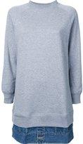 Miharayasuhiro denim jacket hem sweat pullover - women - Cotton - 40