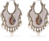 Alexander McQueen Crystal and pearl-embellished earrings