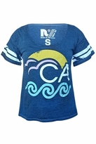 Rebel Yell CA Wave BF Tee in Heather Royal