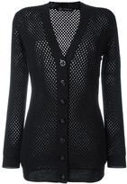 Versace mesh panel cardigan