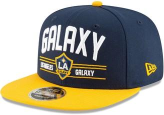 New Era LA Galaxy Satin Two-Tone 9FIFTY Snapback Adjustable Hat - Navy/Gold