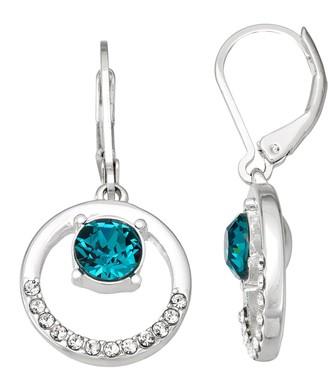 Dana Buchman Silver Tone Orbital Drop Earrings with Swarovski Crystals