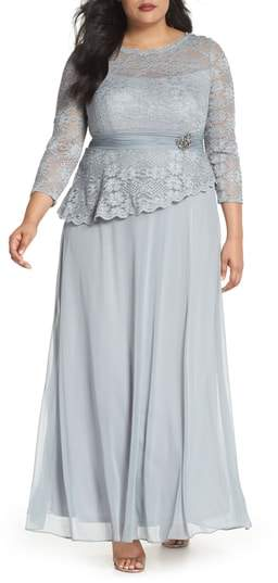 Decode 1.8 Asymmetrical Lace Bodice Gown