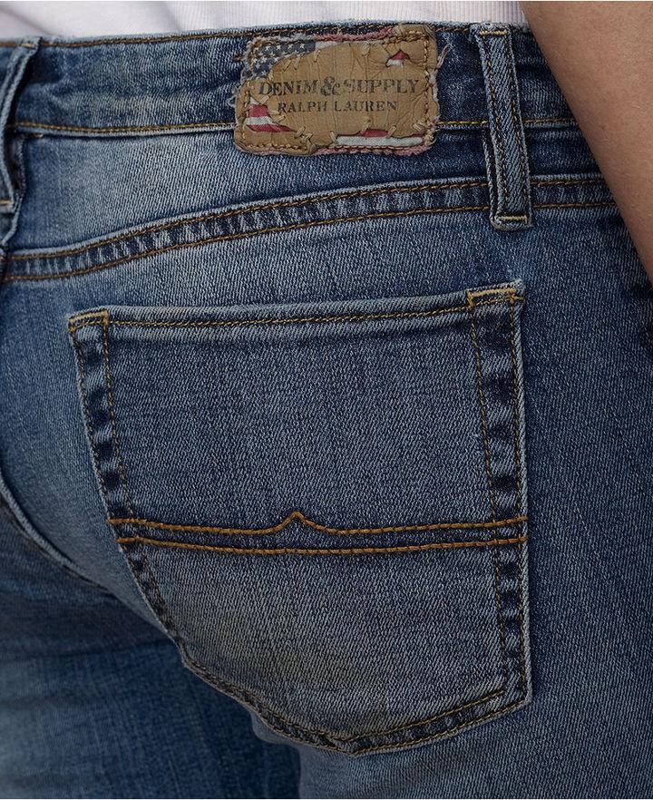 Denim & Supply Ralph Lauren Distressed Skinny Jeans, Byrd Destruction Wash