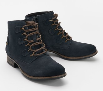 Earth Suede Lace-Up Ankle Boots - Avani Bahn