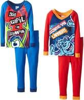 Disney Big Boys' Monsters Inc 4-Piece Pajama Set