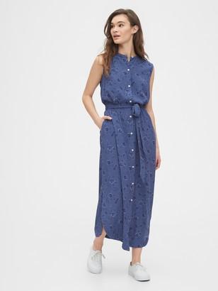 Gap Sleeveless Maxi Shirtdress