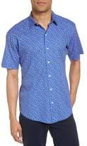 Zachary Prell Floral Print Short Sleeve Sport Shirt