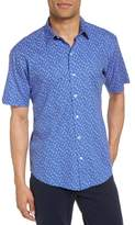 Zachary Prell Men's Floral Print Short Sleeve Sport Shirt
