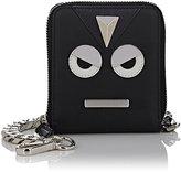 Fendi Men's Emoticon Chain Wallet-BLACK