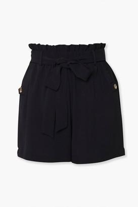 Forever 21 Sash Belt Paperbag Shorts