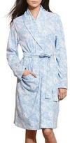 Lauren Ralph Lauren Brushed Interlock Shawl Robe