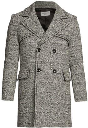 Saint Laurent Manteau Croise Double-Breasted Wool Peacoat