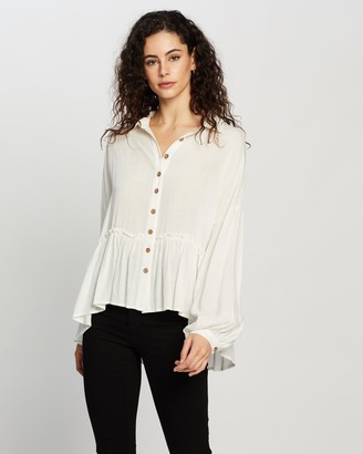 Atmos & Here Lillian Button Front Blouse