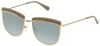 Balmain 56mm Upper Brow Bar Sunglasses