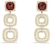 David Yurman Châtelaine Three-Drop Garnet Earrings with Diamonds