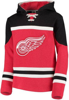 Outerstuff Youth Red Detroit Red Wings Asset Lace-Up Pullover Hoodie