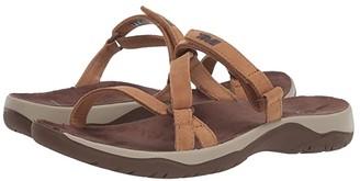 Teva Elzada Slide Lea (Pecan) Women's Shoes