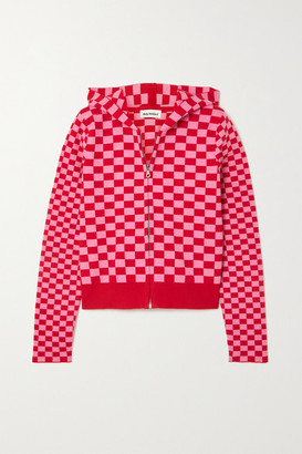 Molly Goddard Owen Checked Cotton Hoodie - Pink